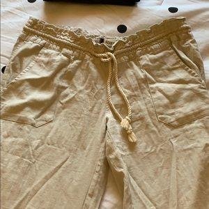 Long tan beach pants